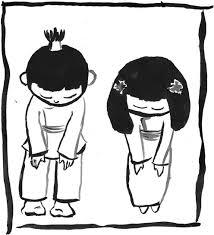Kooko and Hanako bowing