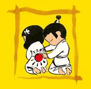 Kooko and Hanako practise on yellow